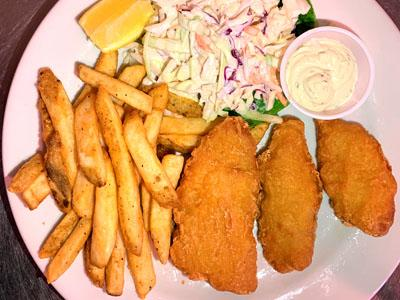 Fish & Chips w/fries and cole slaw